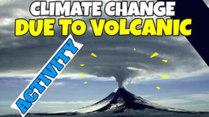Image illustrates climate change due to volcanic activity.