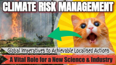 "Featured image in our first article: ""Climate Risk Management Science""."